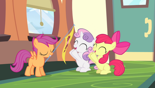 File:Apple Bloom and Sweetie Belle cheering S4E24.png