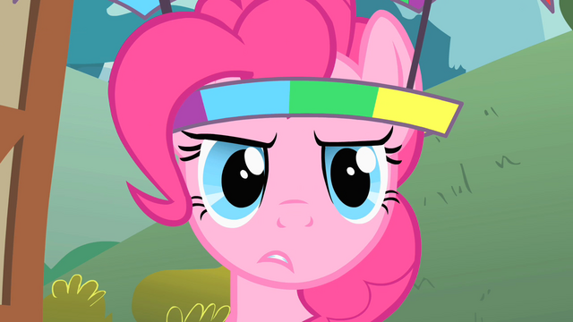 File:Pinkie Pie suspects something S1E15.png