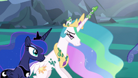 Princess Celestia freed from her cocoon cage S6E26