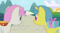 Twinkleshine and Lemon Hearts watch Twilight run off S1E1