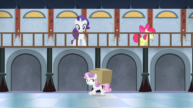 File:Apple Bloom gives box to Sweetie S4E19.png