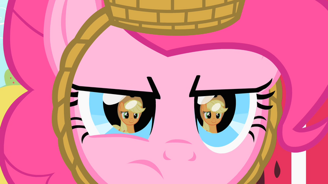 File:Pinkie stares at Applejack S1E25.png