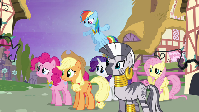 File:Ponies confused at Twilight S4E02.png