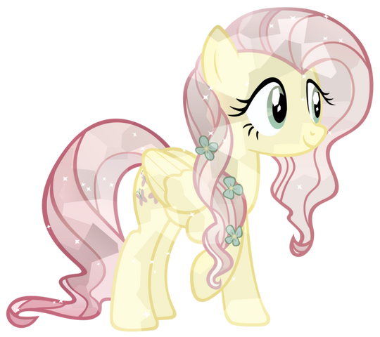 File:FANMADE Crystal Fluttershy by xeltonix.png
