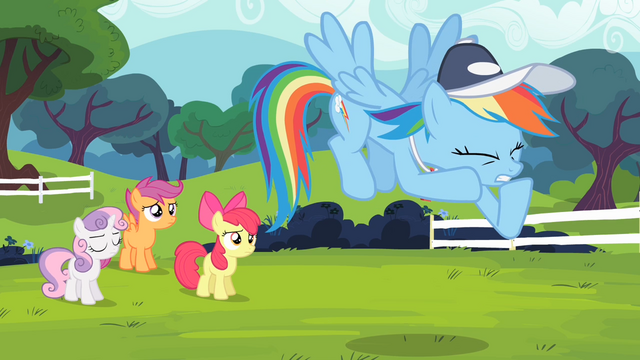File:Rainbow trying to maintain her professionalism S4E05.png