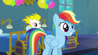 Rainbow with Applejack's mane style S6E7