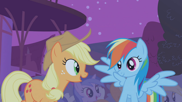 File:Applejack and Rainbow Dash impressed S1E06.png