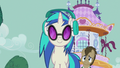 Dr. Hooves trying to get DJ Pon-3's attention S5E9.png