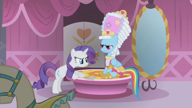 File:Rainbow Dash grumpily sits still S1E10.png