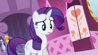Rarity apologizes to Opalescence S4E01
