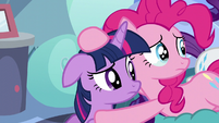 Twilight and Pinkie look at Rainbow Dash S5E5