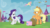 Applejack and Rarity arguing S4E22