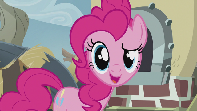 """File:Pinkie faces the fourth wall """"except it does!"""" S5E8.png"""