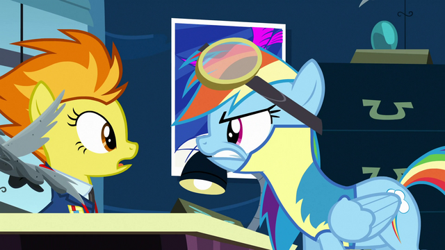 File:Rainbow Dash strongly disagrees with Spitfire S3E07.png