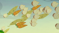 Cupcakes, carrots, and corncobs rain down S5E23