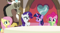 """Rarity """"clashed with the font on the menus"""" S5E22"""