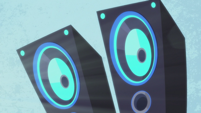 File:DJ Pon-3's pulsating speakers S5E9.png
