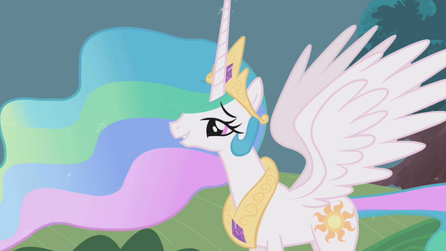 "File:Princess Celestia honored by the ""parade"" S1E10.png"