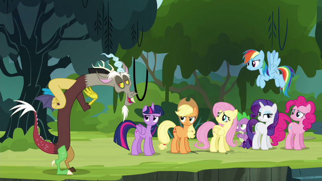 "File:Discord ""they should make me an Alicorn princess"" S4E25.png"