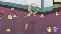 Tambourine bounces across the room EG2