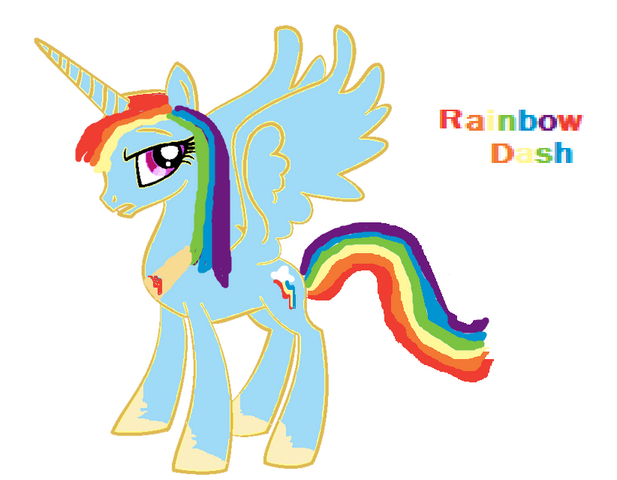 File:FANMADE Dashie alicorn.png
