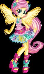 Fluttershy Rainbow Rocks character bio art 2