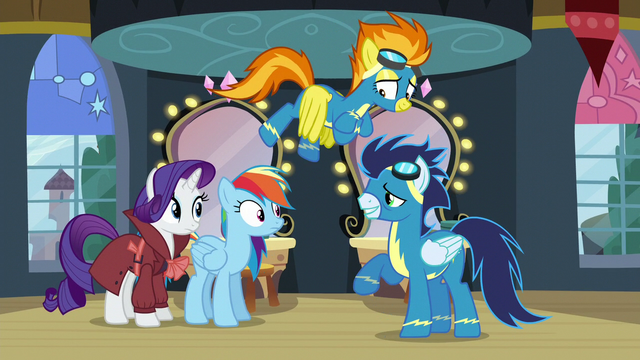 File:Soarin asks Rainbow if she wants to fly with them S5E15.png