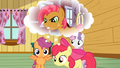 Apple Bloom and Scootaloo remembering S3E04.png