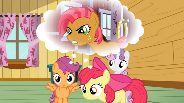 File:Apple Bloom and Scootaloo remembering S3E04.png
