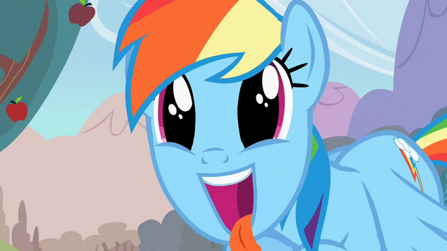 File:Rainbow Dash excited S02E15.png