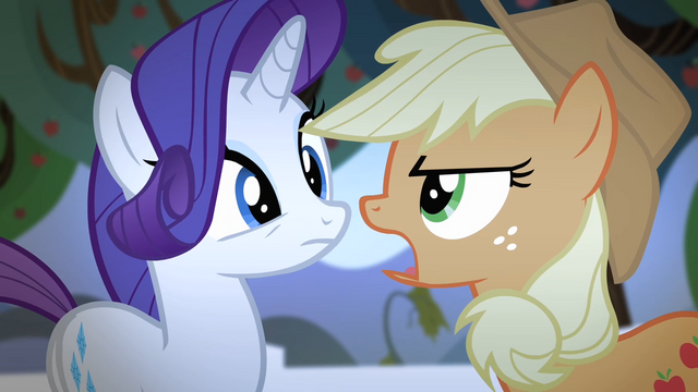 File:Applejack singing while facing Rarity S4E07.png