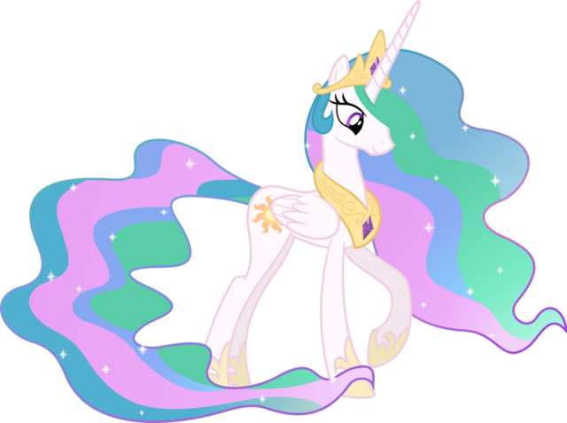 File:FANMADE Princess Celestia Looking Down.png