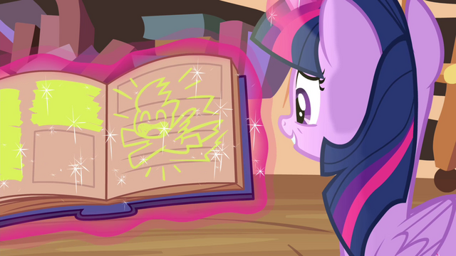 File:A drawing of Rainbow on the book S4E21.png