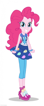 Friendship Games Pinkie Pie School Spirit artwork