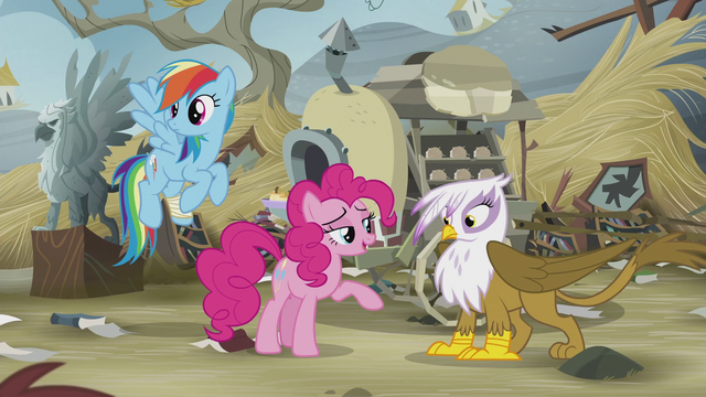 File:Pinkie Pie encourages Gilda to make a friend S5E8.png