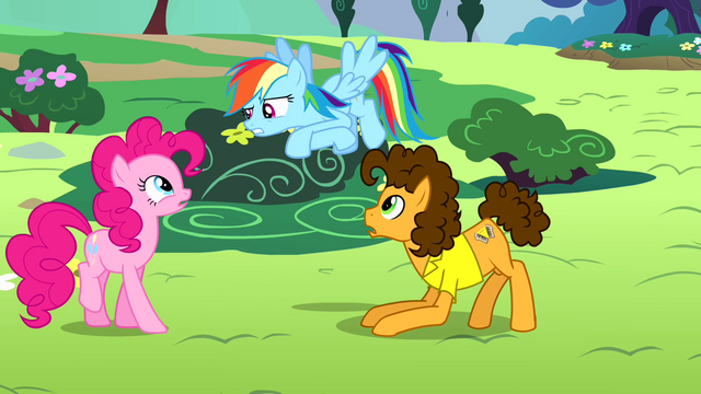 "File:Rainbow Dash ""enough with the warm fuzzy stuff"" S4E12.png"