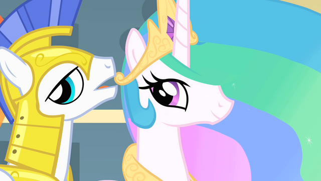 File:A Guard whispers to Celestia S1E22.png