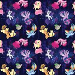 My Little Pony The Movie seaponies woven cotton fabric by Etsy