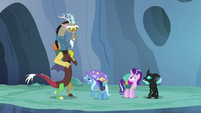 Trixie tells Discord to lower his voice S6E26