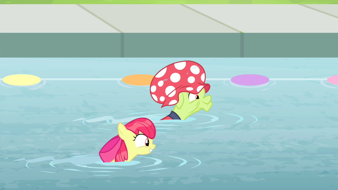 Image Apple Bloom And Granny Swimming In Pool My Little Pony Friendship Is Magic