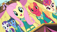 "Fluttershy and Ponytones ""got the music"" S4E14"