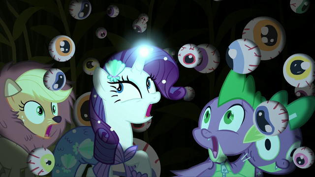 """File:Main cast in cave of hanging """"eyeballs"""" S5E21.png"""