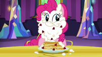 Pinkie covered in berries and whipped cream S5E3