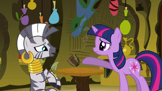File:Twilight accidentally spills Zecora's drink S3E05.png