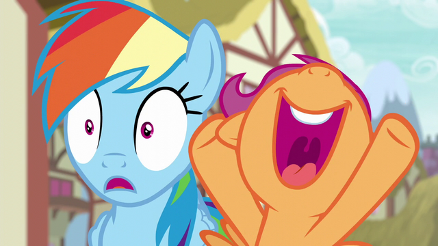 File:Scootaloo excited for Rainbow Dash S6E7.png