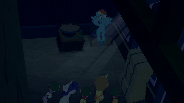 "File:Rainbow Dash ""mindless cookie-eating zombies"" S6E15.png"