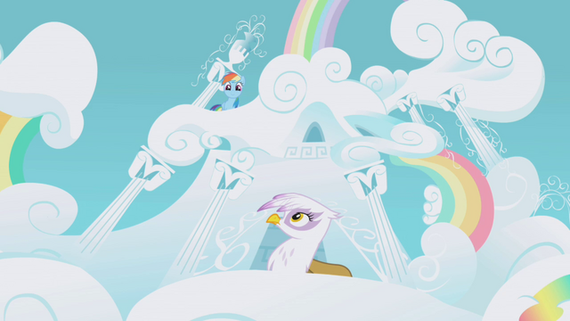 File:Rainbow Dash pops outside S1E05.png