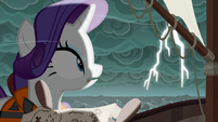 Rarity looking at the lightning S6E22