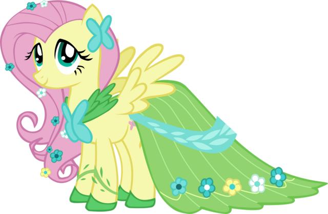 File:FANMADE Fluttershy's Gala dress.png