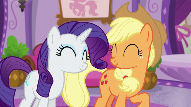 File:Applejack and Rarity happy S6E10.png